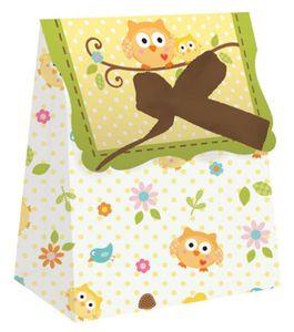12 Baby Eule Mini Geschenk Tüten