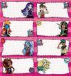 Monster High Heft Etiketten