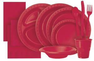 12 Plastik Becher Rot