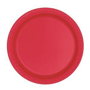 20 kleine Papp Teller Rot – Bild 1