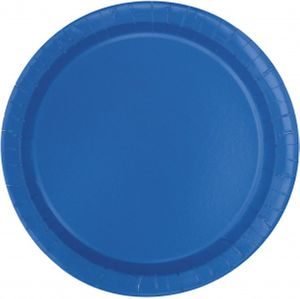 8 Pappteller Königs Blau
