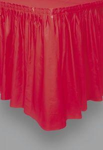 Plastik Tischrock Rot