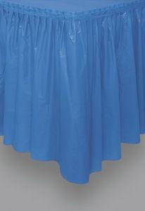 Plastik Tischrock Königs Blau – Bild 1