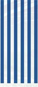 20 Zellophantütchen blaue Streifen