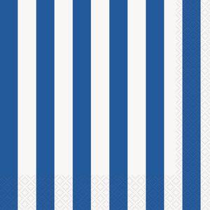 16 Servietten blaue Streifen