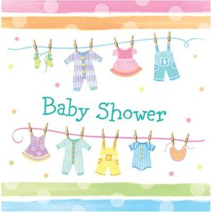 16 Servietten Baby Kleidung – Bild 1