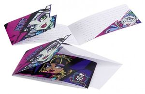 6 Einladungskarten Monster High 2