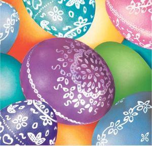 18 kleine Servietten dekorative Ostereier