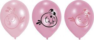6 Luftballons Angry Birds Pink