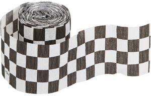 Krepp Band schwarz weiß
