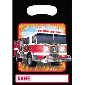 8 Party Tüten Feuerwehr Alarm – Bild 1