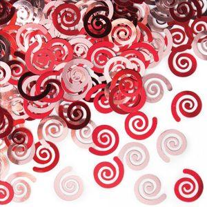 Konfetti Swirls Rot