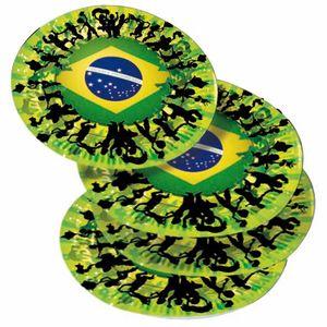 8 Papp Teller Brasilien