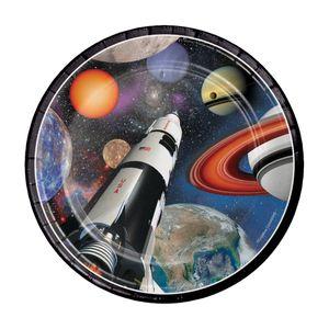 8 kleine Teller Weltraum Mission