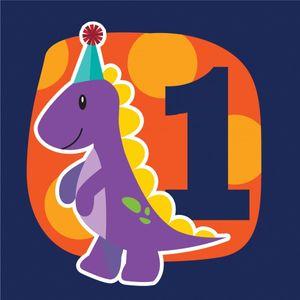 16 Erster Geburtstags Servietten kleiner Dinosaurier