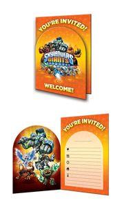 8 Skylanders Einladungskarten