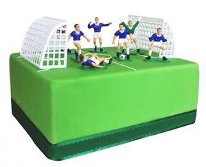 9 Teile Fußballer Tortendeko Set blau – Bild 2