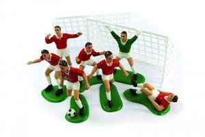9 Teile Fußballer Tortendeko Set rot