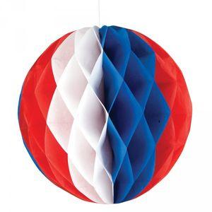 großer Wabenball rot weiß blau