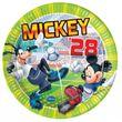 8 Micky Maus Fußball Teller