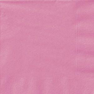 20 kleine Servietten helles Pink