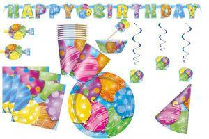 Geschenkpapier kunterbunte Ballons