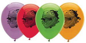 6 Dinosaurier Luftballons