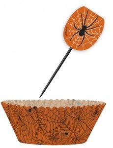 Muffin Förmchen Set Spinnen