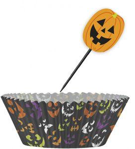 Muffin Förmchen Set Halloween Kürbis