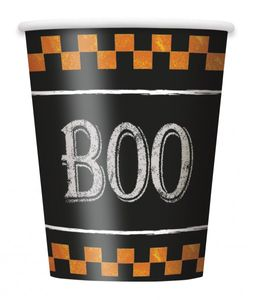 8 Papp Becher Formel Halloween