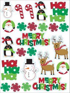 4 Sticker Bogen Weihnachten
