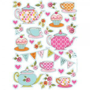 4 Sticker Bogen Tea Time