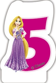 Disney Prinzessin Zahlenkerze 5