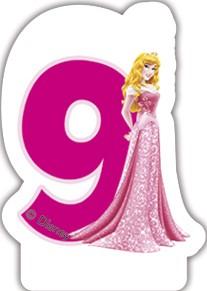 Disney Prinzessin Zahlenkerze 9
