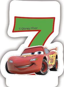 Cars Zahlenkerze 7