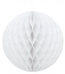 Wabenball rund weiß – Bild 1