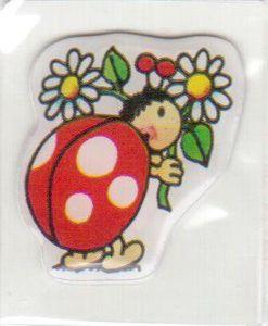 Marienkäfer mit Blume Mini Soft Sticker