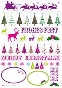 Rentier und Weihnachtsbaum Sticker