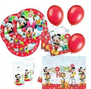 63 Teile Disneys Micky und Minnie Weihnachts Deko Set 16 Kinder