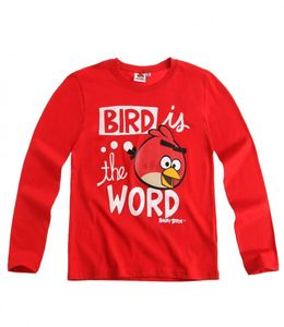 Angry Birds Langarm Shirt Rot