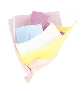 10 Bogen Packseide Pastell Bunt sortiert – Bild 1