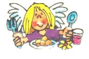 Engel Violett Mini Sticker - ItSticks