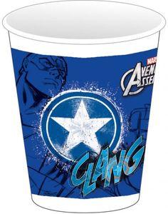 8 Avengers Teens Plastik Becher Captain America