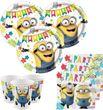 48 Teile Minions Let's Party Deko Set für 16 Kinder
