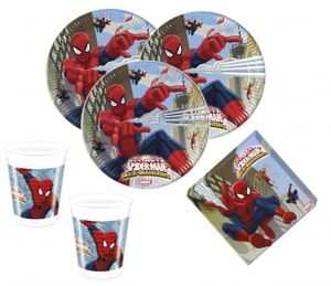 8 Spiderman Web Warriors Papp Teller – Bild 2