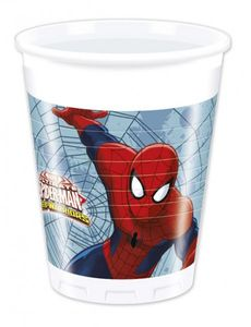 8 Spiderman Web Warriors Becher