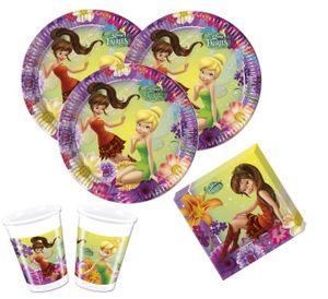 52 Teile Tinkerbell Nimmerbiest Party Deko Set für 16 Kinder