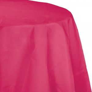 Runde Papier Tischdecke Pink Magenta