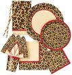10 Papier Trinkhalme im Leoparden Look