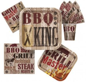 8 Papp Becher Barbeque King – Bild 2